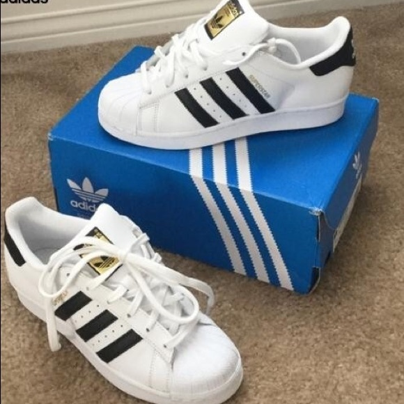 adidas superstar ii white black size 7